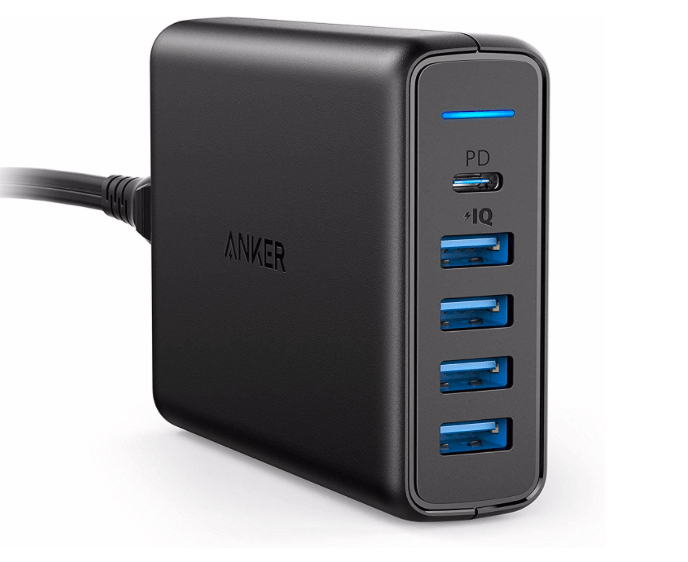 USB C Wall Charger, Anker Premium 60W 5-Port Desktop Charger