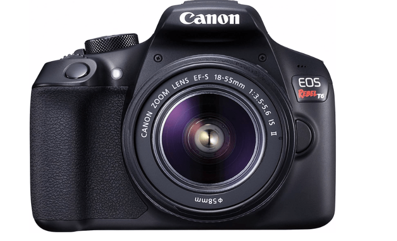 Canon EOS Rebel T6 Digital SLR Camera Kit with EF-S 18-55mm f/3.5-5.6 is II Lens Black